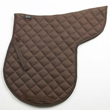 Elico Quilted Numnah Brown